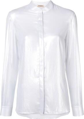 Blanca Vita band collar shirt