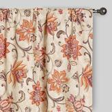 Cost Plus World Market Coral & Pink Floral Eva Concealed Tab Top Curtains, Set of 2