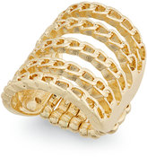 Thalia Sodi Gold-Tone Chain Link Stretch Ring, Only at Macy's