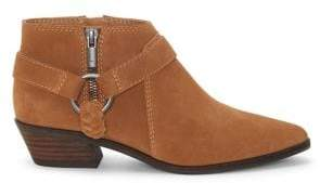 Lucky Brand Enitha Leather Metal-Ring Booties