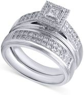 Beautiful Beginnings Diamond Engagement Ring and Wedding Band (1/3 ct. t.w.) in Sterling Silver
