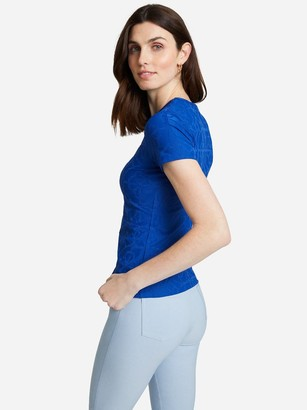 J.Mclaughlin Allie Cap Sleeve Tee in Brighton Bamboo Jacquard