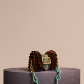 Burberry The Ruffle Buckle Bag in Snakeskin and Calfskin