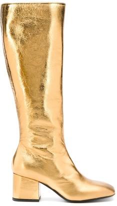 Marni Square-Toe Leather Boots