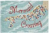 Liora Manné Trans Ocean Imports Frontporch Mermaid Crossing Indoor Outdoor Rug