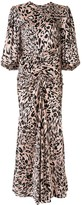 Alexandre Vauthier ruched leopard print dress