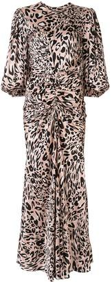 Alexandre Vauthier Ruched Leopard Print Dress