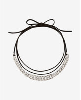 Express Pave Status Link Wrap Choker Necklace