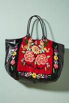 MOMO Design Shimmered Florals Tote Bag