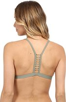Vince Camuto Women's Milos Solids Jewelry Detail Racerback Bikini Top