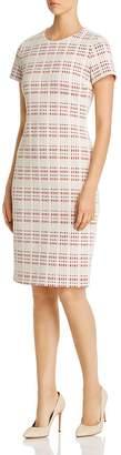 BOSS Decka Plaid Sheath Dress