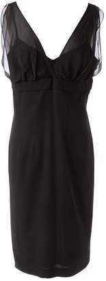 Marella Black Cotton Dresses