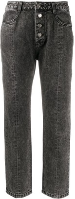 Sjyp Stonewashed Cropped Jeans