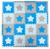 Tadpoles Tadpole Mat 16 Piece - Stars (Blue/Brown)