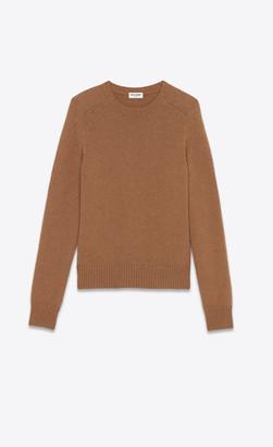 Saint Laurent Wool Sweater Camel L
