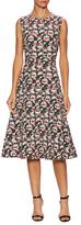 Balenciaga Floral Jacquard A-Line Midi Dress