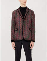 Emporio Armani Tartan regular-fit shell-down blazer