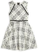 Sally Miller Girl's Kenzie Plaid Fit-&-Flare Dress