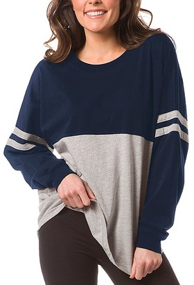Boxercraft Women's Sleep Tops NOX - Navy & Oxford Pom-Pom Jersey Oversize Lounge Top - Women