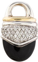 David Yurman Diamond & Onyx Pendant