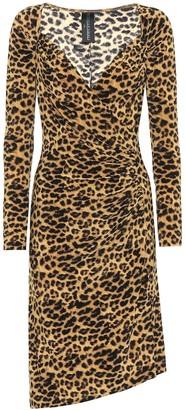 Norma Kamali Leopard-print midi dress