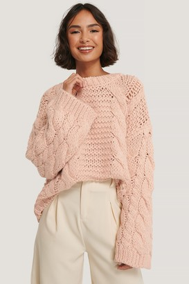NA-KD Chunky Cable Knitted Sweater