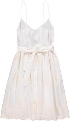 Magda Tinsels Embroidered Sun Dress in Cream - small | cream - Cream