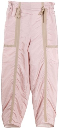 Maison Flaneur Grosgrain Trim High-Waisted Trousers