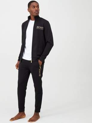 BOSS Gold Logo Cuffed Lounge Pants - Black