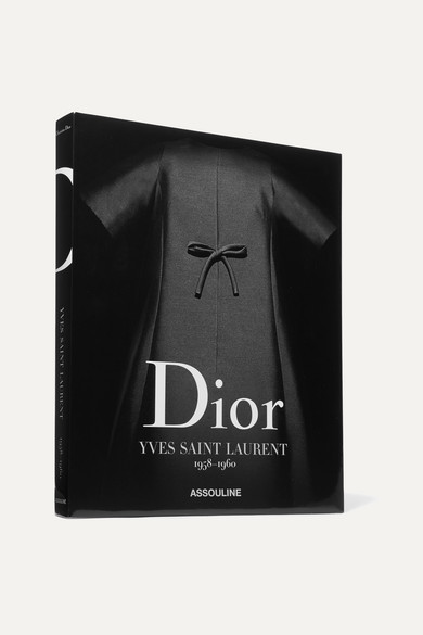Assouline Dior By Yves Saint Laurent 1958-1960 By Laurence Benaïm Hardcover Book - Black
