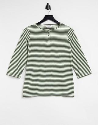 People Tree organic cotton breton stripe long sleeve t-shirt