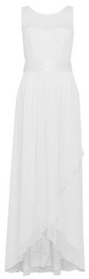 Dorothy Perkins Womens Showcase White Bridesmaids Naomi Waterfall Maxi Dress, White