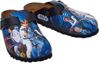 Birkenstock Boston Birko-Flor Narrow Fit Sandals Star Wars Heroes White
