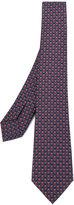Bulgari micro owl printed tie - men - Silk - One Size