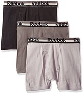 Reebok Men's 3pk Cotton Boxer Brief (Fly)