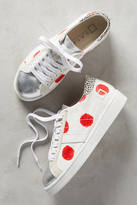 D.A.T.E Red Twist Pois Sneakers