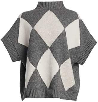 Fabiana Filippi Argyle Cashmere Sweater