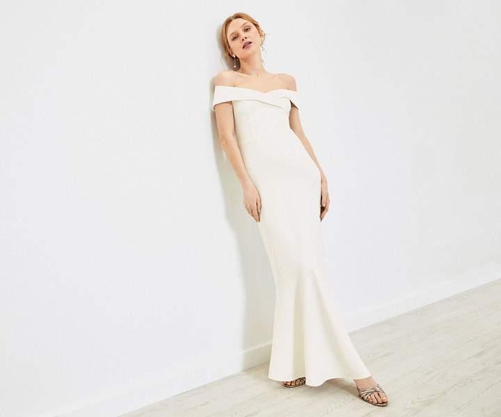 Oasis Bardot Wedding Dress
