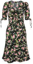 Topshop Floral print midi skater dress