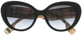 Burberry Vintage-check oversized-frame sunglasses