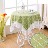 DW&HX Tablecloths for coffee table,Lace stitching elegant flower embroidery tablecloths for rectangle rond sqare table for dining table tv cabinet desk