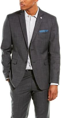 Original Penguin 2Pc Slim Fit Wool-Blend Suit With Flat Pant