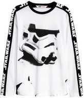 H&M Long-sleeved T-shirt - White/Star Wars - Kids