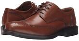 Johnston & Murphy Tabor Casual Dress Wingtip Oxford (Tan Calfskin) Men's Lace Up Wing Tip Shoes
