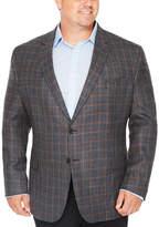 STAFFORD Stafford Merino Wool Sportcoat Blue Gray Rust Windowpane - Big and Tall