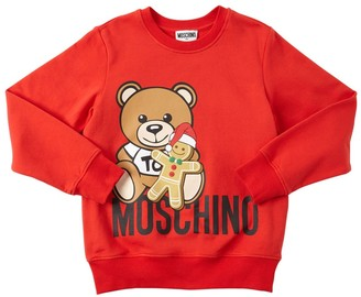 Moschino Teddy Bear Print Cotton Sweatshirt