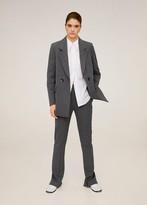 MANGO Pinstripe suit pants grey - 2 - Women