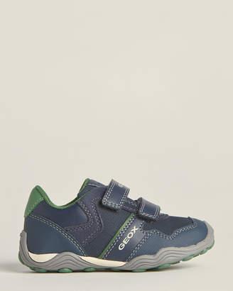 Geox Toddler/Kids Boys) Navy & Green Arno Low-Top Sneakers