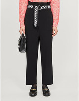 Claudie Pierlot Patty belt-detail woven trousers