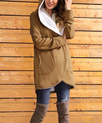 Z Avenue Women's Non-Denim Casual Jackets Mocha - Mocha Sherpa-Lined Jacket - Women & Plus